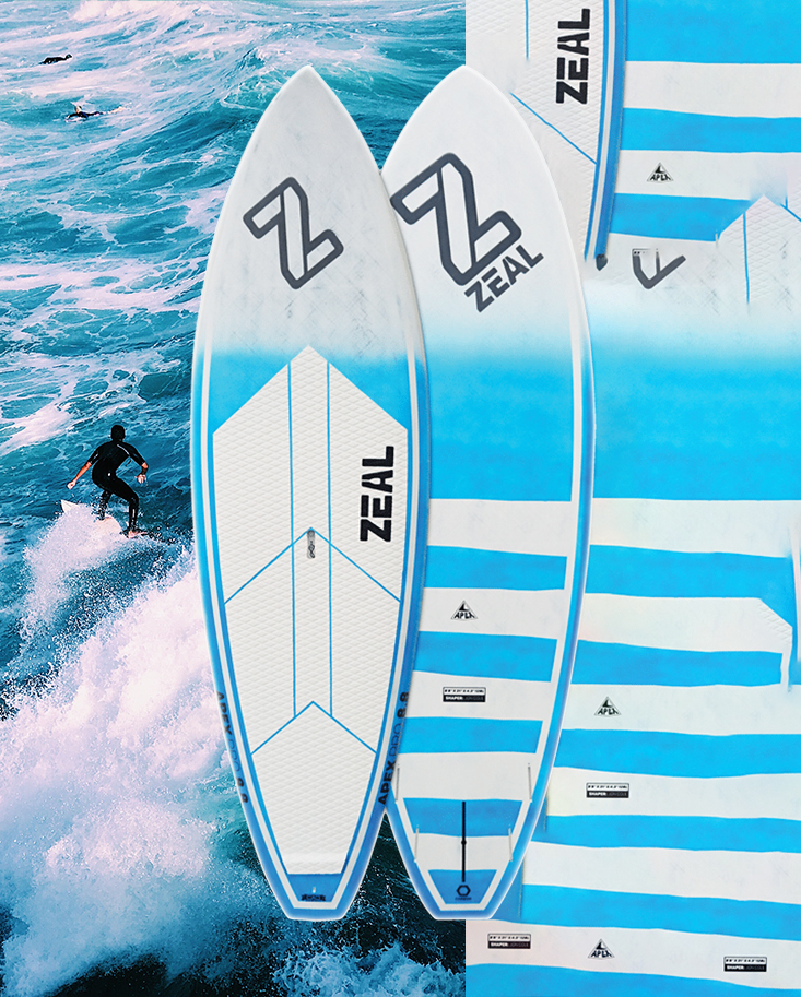 Apex Pro Zeal Sup Board ocean background