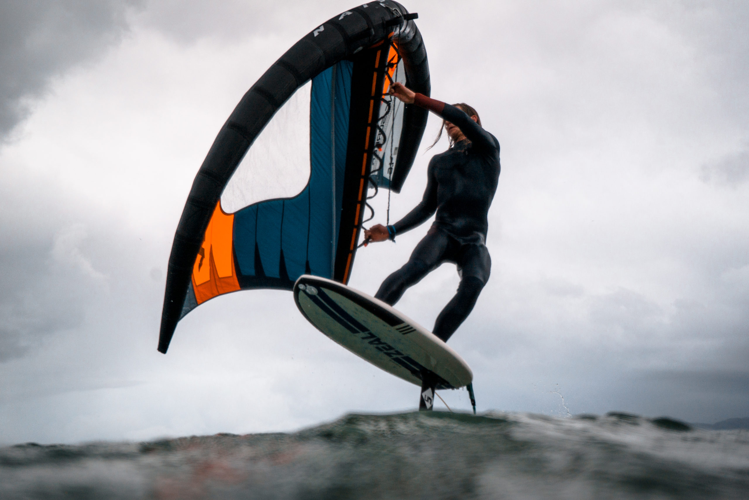 Naish Kite Wings being surf on the water